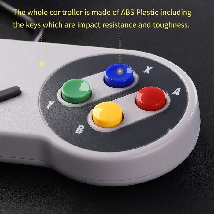 USB Controller Gamepad 2pcs Super Game Controller SNES USB Classic Gamepad Game Joystick for Raspberry Pi