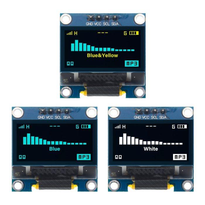 4pin 0.96 Inch White/Blue/Yellow Blue OLED 128x64 OLED Display Module IIC I2C Communicate for Arduino