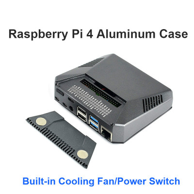 Raspberry Pi 4 B ARGON ONE+ Aluminum Case Housing The Adapter Plate Cooling Fans +