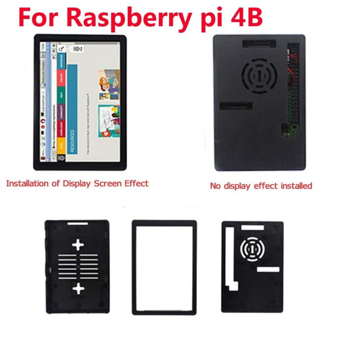 3.5 Inch Raspberry Pi 4 Model B Touch Screen 480*320 LCD Display + Touch Pen + Dual Use ABS Case Box Shell for Raspberry Pi 4