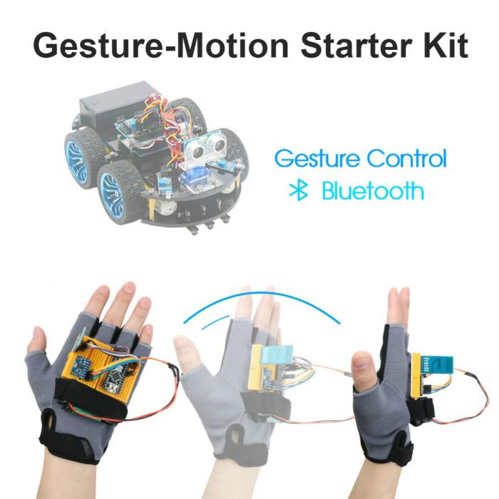Gesture-Motion Starter Kit for Arduino Nano V3.0 Support Robot Smart Car MPU6050 6 Axis Accelerometer Gyroscope Module