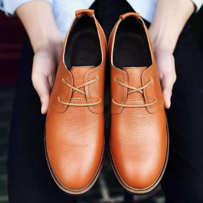 Men  Breathable British Style Lace Up Soft Casual Shoes