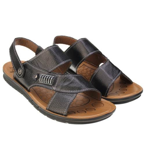 Men's  Metal Buckle Flat Open-toe Slipper Sports Casual Beach Sandals