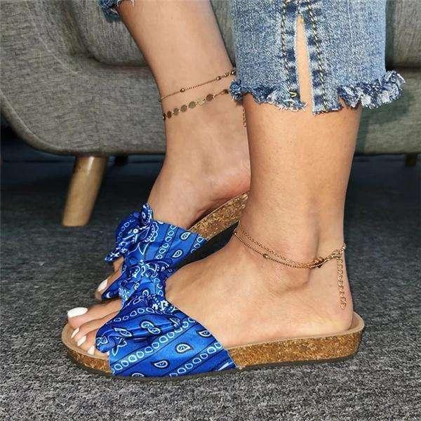 Bow Flat Heel Slippers