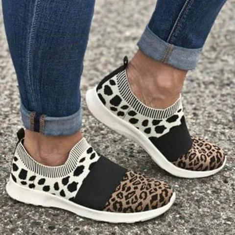 Leopard Flat Heel Dress Sneakers