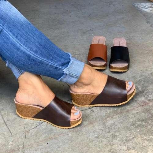 All Season Wedge Heel Sandals