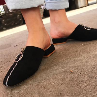 Studded Stars Moon Pattern Open Toe Flat Sandals