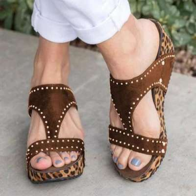 Beach Vintage Wedge Sandals
