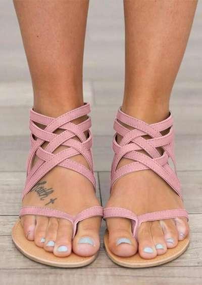 Female Flat Sandals Rome Style Sandals