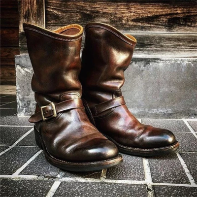 Men's Genuine Leather Engineer Boots