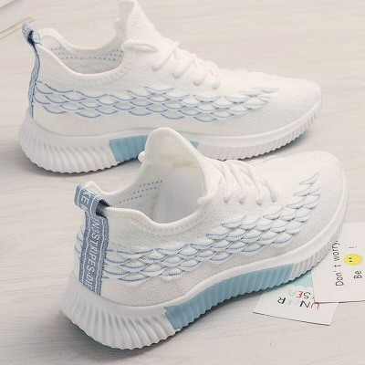 Women Comfortable Mesh Athletic Trainers Breathable Walking Sneakers