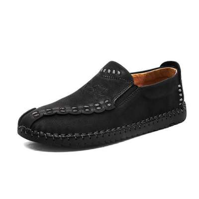Men's Slip-on Faxu Leather Flats Casual Shoes