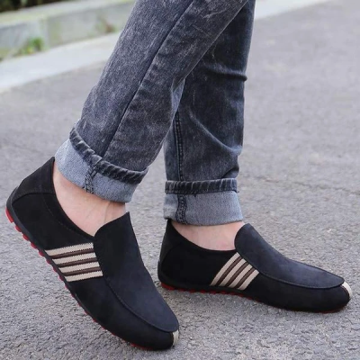 Men's Suede Leather Loafers Driving Moccasins Casual Flats Shoes