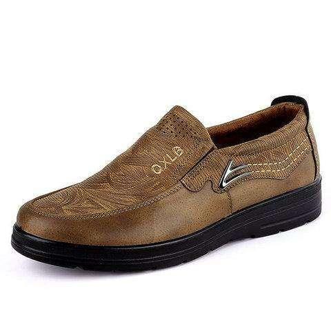 Large Size Men Microfiber Fabric Comfy Soft Flat Casual Shoes