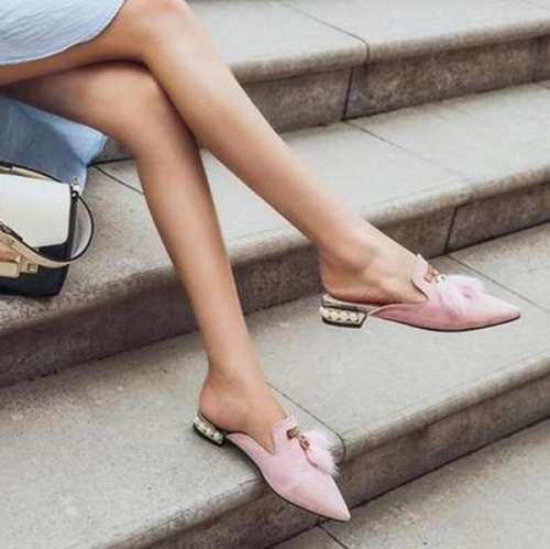 Women Casual Slip-On Mules Sandals