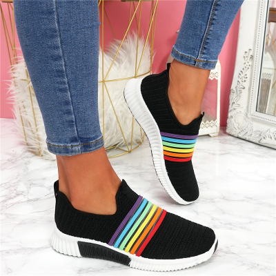 Breathable New Flying Woven Casual Shoes Women Sneakers