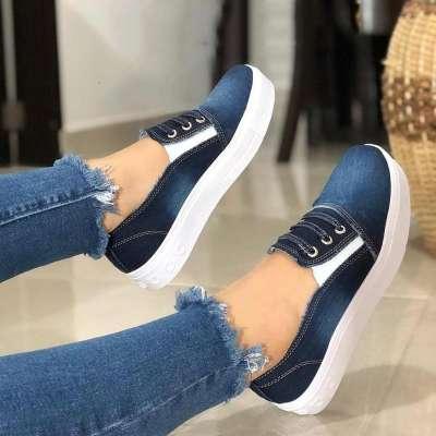 Women Casual Denim Canvas Sneaker Shoes
