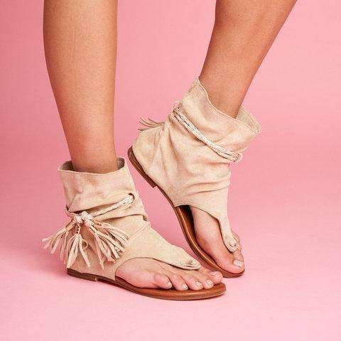 Women Flat Heel Comfy Sandals