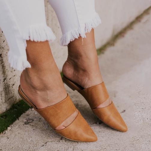 Women's Versatile Simple Pointed Flat Mules