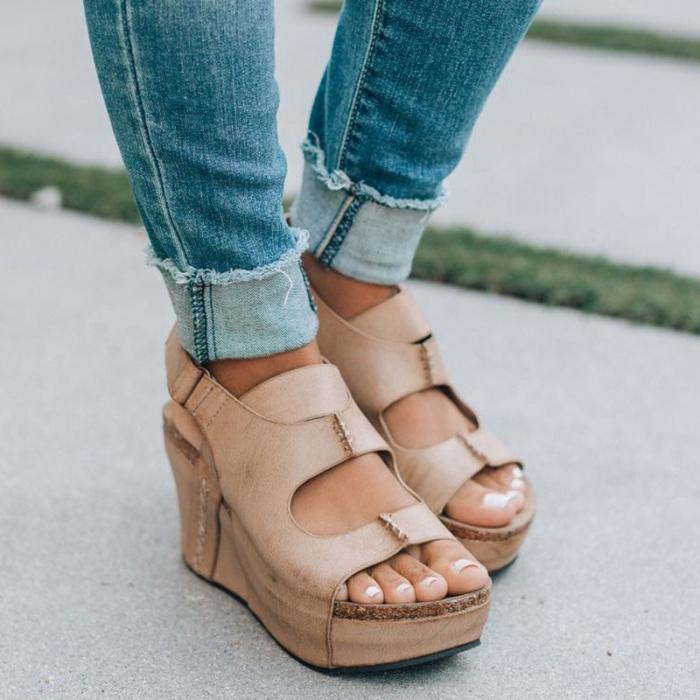Women Faux Leather Sandals