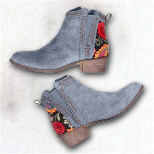 Ankle Autumn Embroider Women Boots
