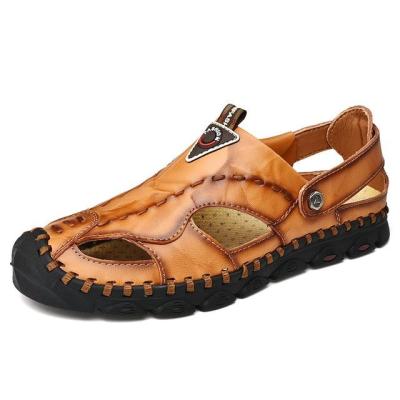 Men's Genuine Leather Lightweight Comfort Beach Sandals