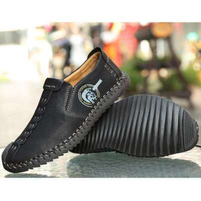 Breathable Flat Heel Casual slip on Men's Shoes