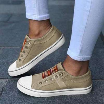 Women'S Slip-On Hollow-Out Flat Casual Flats Sneakers