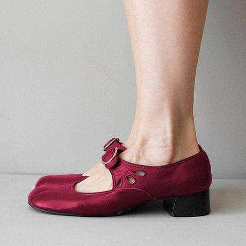 Mare Jane Summer Low Heel Vintage Women Sandals