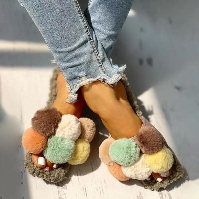 Villus Fluffy Casual Flat Sandals