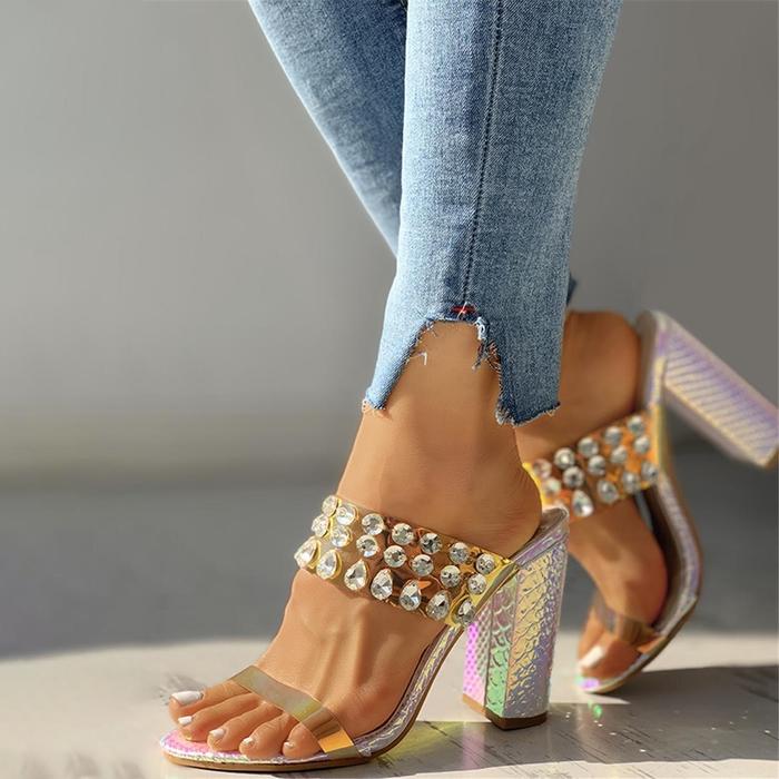 Square High Heels Summer Sandals