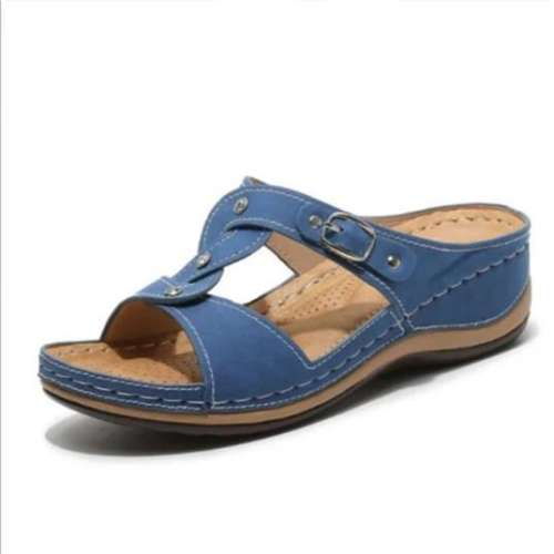 Women`s Casual Solid Color Rhinestone Decorative Sandals