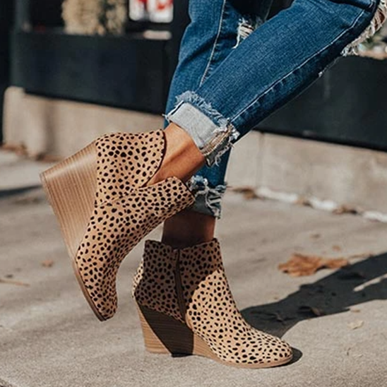 The Macon Faux Suede Bootie In Cheetah