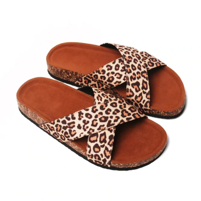 Flower Daily Flat Heel Color Block Slippers