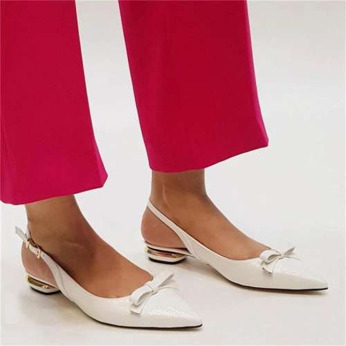 Women's Wild Bow Pointed Mules