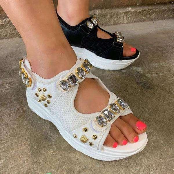 Bright Diamond Platform Sandals