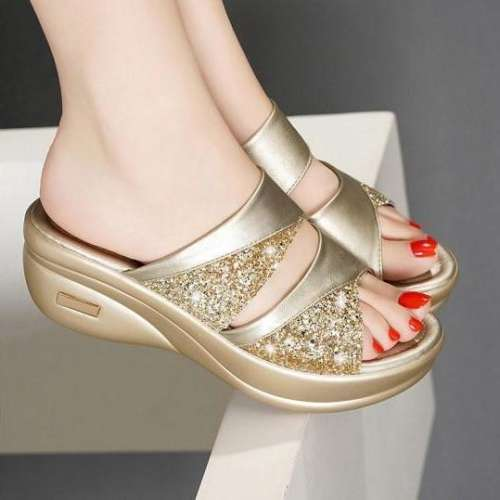 Women's Wild Fish Mouth Wedge Sandals