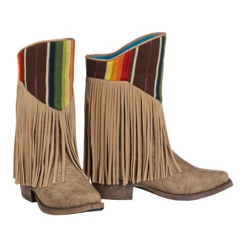 Colorblock Tassel Boots Women Ankle Boots