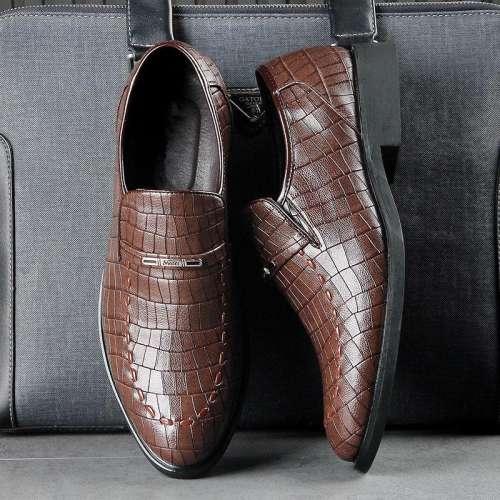 Men's Slip Resistant Slip On Business Casual Formal Shoes