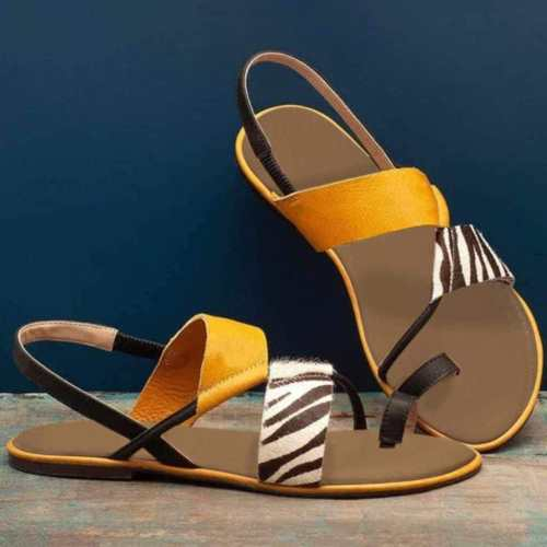 Women Summer Slip On Flat Beach Sandals