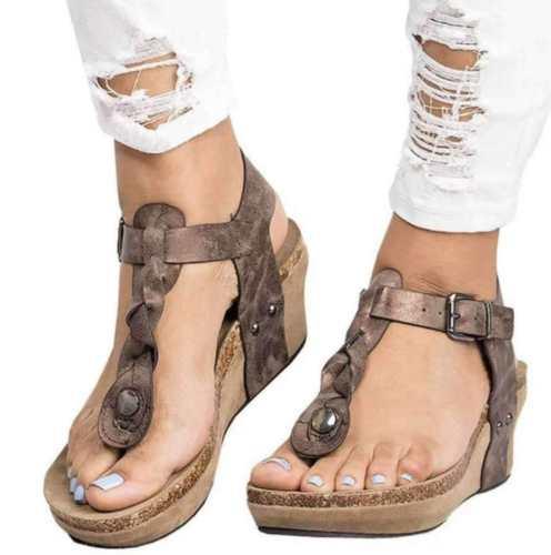 Large Size Vintage Fashion Wedges Sandals