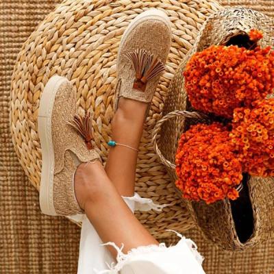 Beige Flat Heel All Season Flats Shoes
