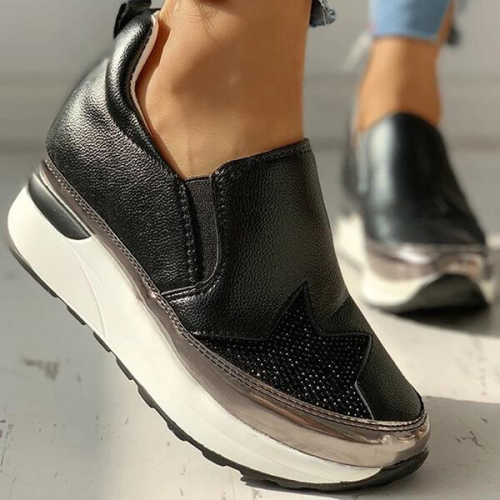 NEW! Women PU Casual Outdoor Athletic with Elastic Sneakers