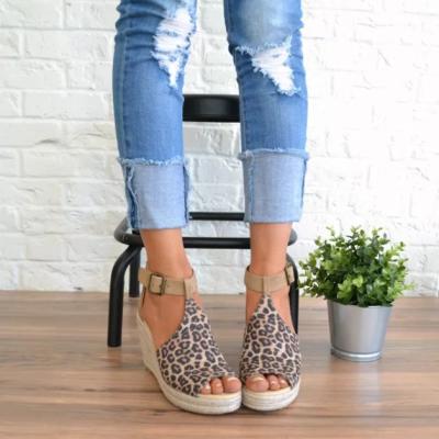 Women Chic Espadrille Wedges Adjustable Buckle Sandals