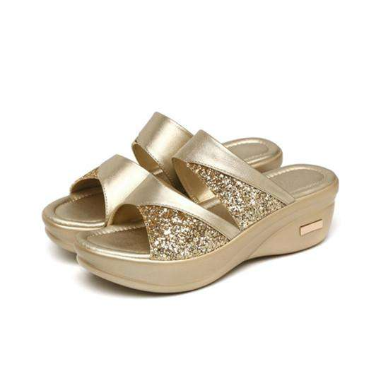 Women's Wild Fish Mouth Wedge Sandals