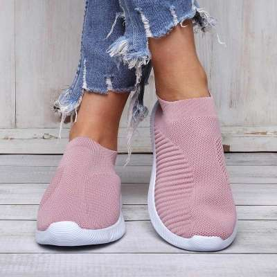 All Season Casual Breathable Elastic Slip On Sneakers