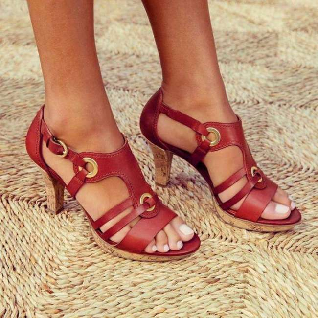 New Elegant Pumps Vintage Women Sandals