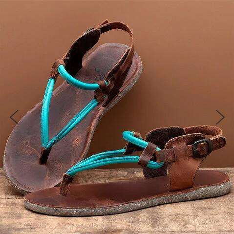2020 New Fashion Women's Vintage Flip Thong Flat Sandals