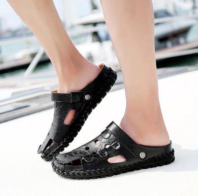 Men's Sewing Summer Sandals Slip On Beach Slipper Shoes