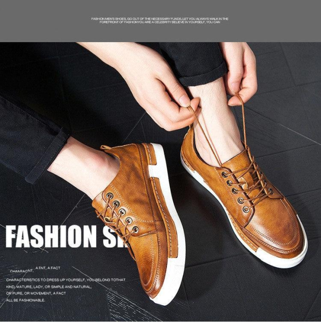 Casual Fashion Vintage Genuine Leather Men's Leisure Shoes